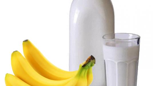 банан и мляко